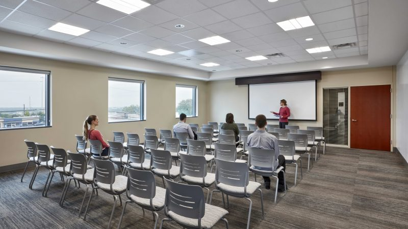 true worth homeless shelter interior conference room